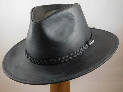 Stetson 'Buffalo' outdoorhoed leder black