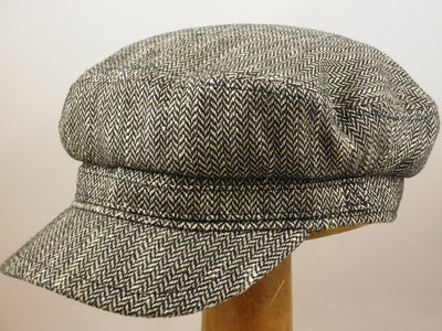 Stetson schipperspet  'Riders cap' Silk / grijs visgraat