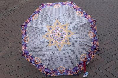 Catalina Estrada  paraplu BORDEAUX print