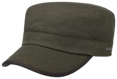 Stetson Army cap Cotton Heringbone Olive