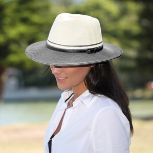 House of Ord BELLA outdoor Fedora IVORY & BLACK