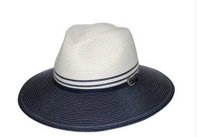 House of Ord BELLA outdoor Fedora IVORY & NAVY