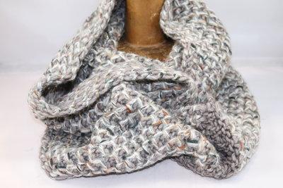 Seeberger 'loop' sjaal Lurex NUTRIA