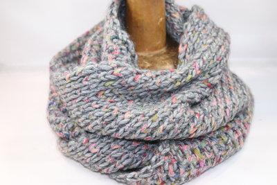 Seeberger 'loop' sjaal  lurex SMOKE GREY