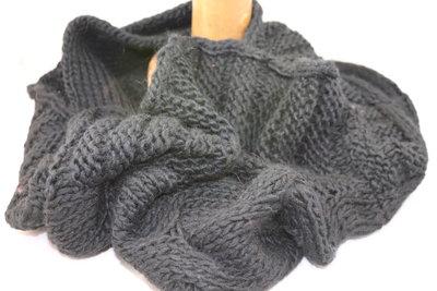 Seeberger 'loop' sjaal BLACK CABLE