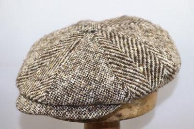 Alfonso D'Este Ballonpet visgraat spikkel BRUIN