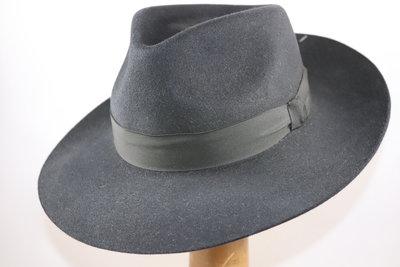 Baldini fedora 300 gesneden rand zwart