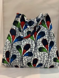 African Wax tas / shopper bag PEACOCK