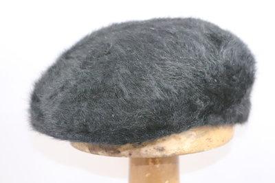 Bedacht Angora Hard flatcap Zwart