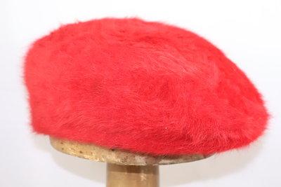 Bedacht Angora Hard flatcap ScarletRood