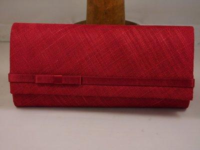 Handtas Seeberger satijn-sinamay ruby red