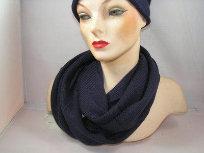 Seeberger 'loop'sjaal rolrand paars