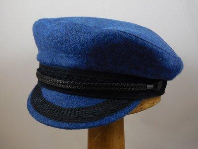MTM Camaret-Schipperspet Wol BLEU Blauw