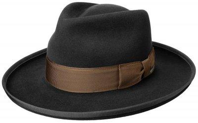 Stetson Andalusia Amish Fur Felt Fedora BLACK