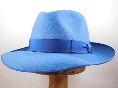 Borsalino Bogarthoed Qualita Superiore Jeansblauw