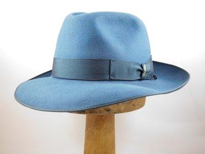 Borsalino Bogarthoed Qualita Superiore Grijsblauw