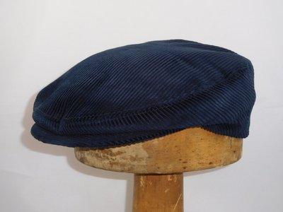 Alfonso D'Este engelse pet 'Tamigi' corduroy blauw