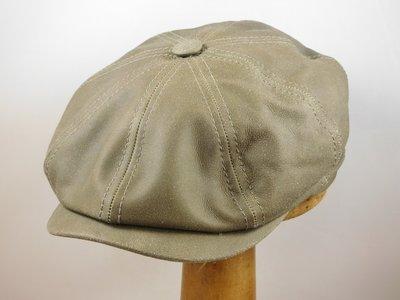 Ballonpet Stetson 'Hatteras' Leder groen