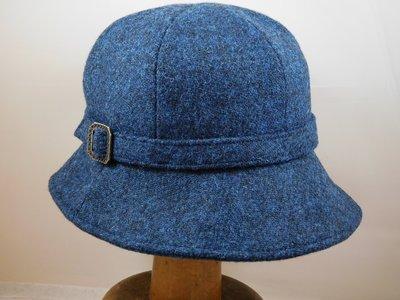 Bronte Harristweed Cloche / Jeansblauw
