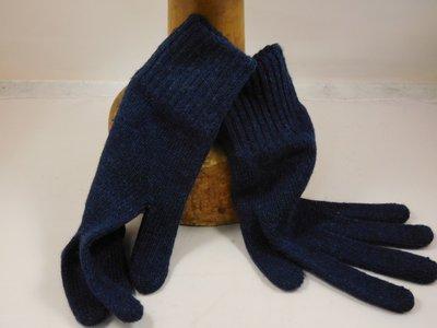 Bronte handschoen wol blauw
