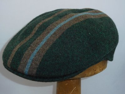 Kangol 504 Identity Stripe Wool HUNTER GREEN