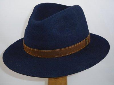 Borsalino Alessandria navy blauw 'New Outdoor model'