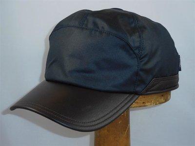 Wigens Baseballcap Wax met oorklepen Donkerblauw