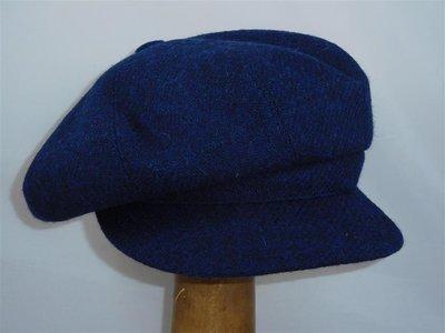 Portaluri Harristweed Damespet blauw