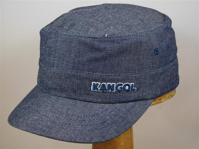 Kangol cap 'Army Twill Cotton' denim navy